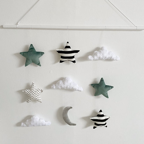 Clouds, Stars & Moon Wall Hanging