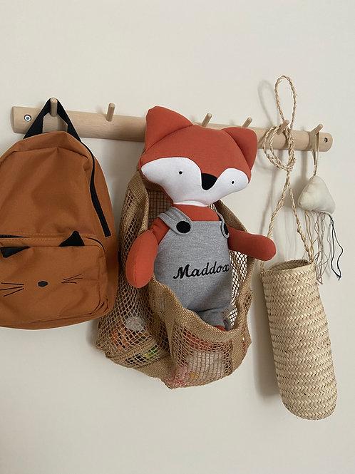 Frankie fox soft toy- orange/grey