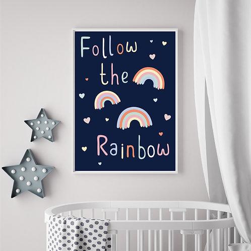 Follow the rainbow print- A4 print