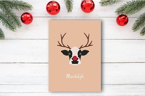 Christmas card- Moodolph