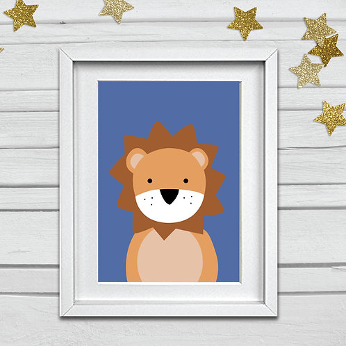 Lion head nursery print- A4