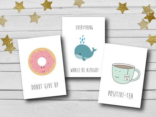 Positive cards pack of 6