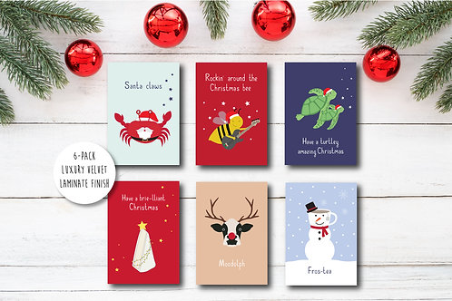 Funny Christmas card pack of 6