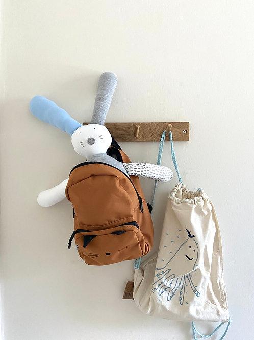 Flopsy bunny soft toy- blue/grey/white