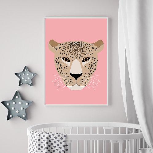 Leopard pink/neutral print - A4 print