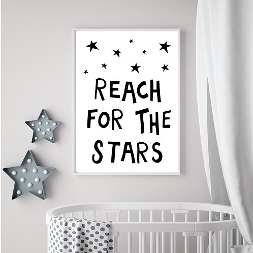 Reach for the stars print A4- PDF - white