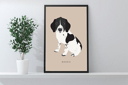 Custom pet portrait print