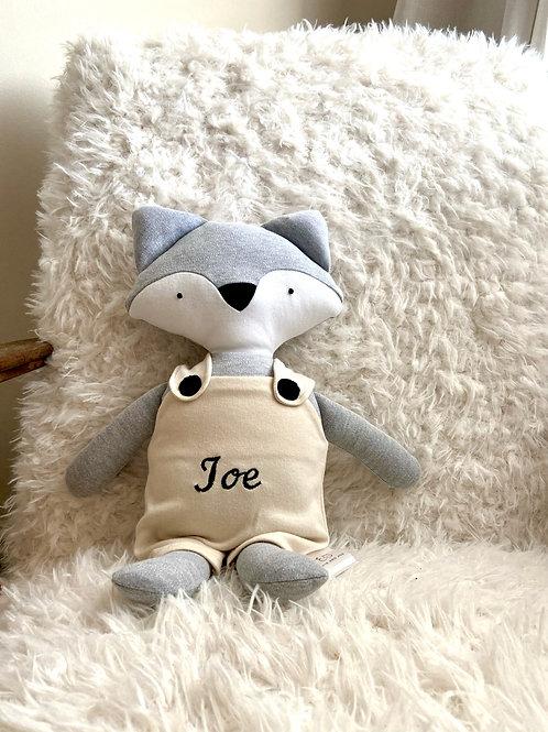 Frankie fox soft toy- grey/beige