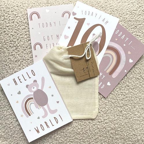 Milestone card set of 24- Boho