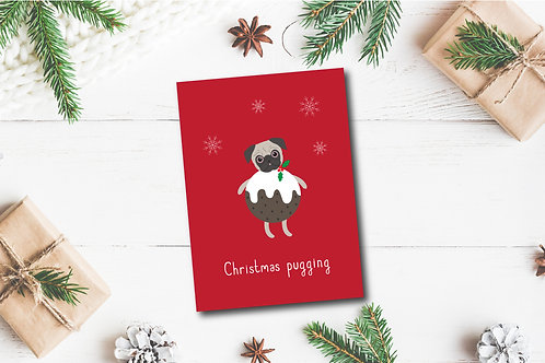 Christmas card- Christmas Pugging