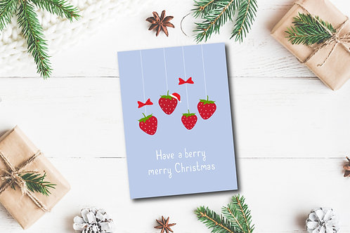 Christmas card- Berry Christmas