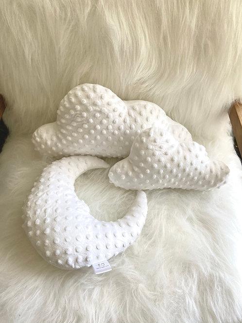 White clouds & moon cushion set