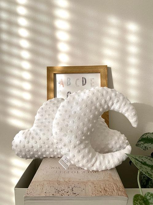 White cloud & moon cushion set