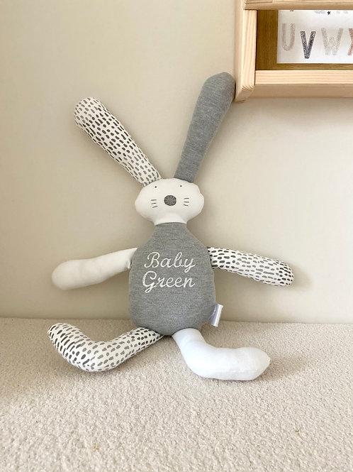 Flopsy bunny soft toy- grey & white