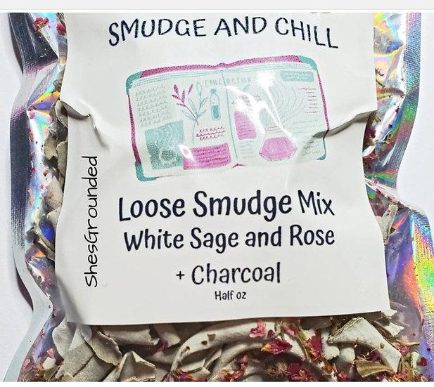 Loose White Sage and Rose