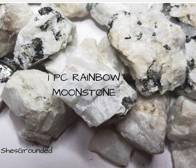 Raw Rainbow Moonstone 1pc