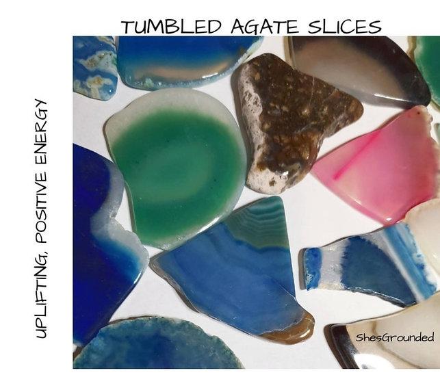 AGATE SLICE TUMBLED