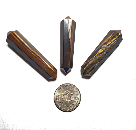 Tigers Eye Double Terminated Point