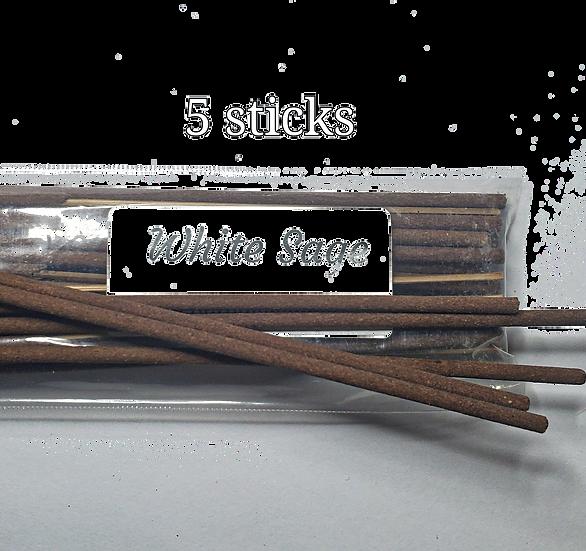 5 white sage sticks