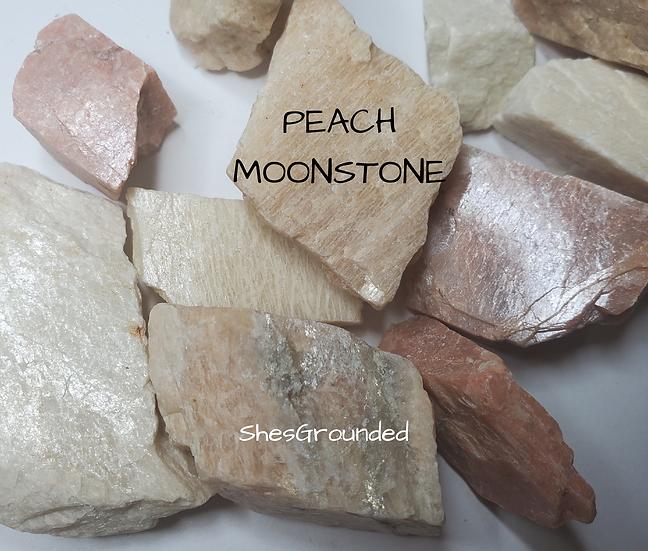Rough Peach Moonstone