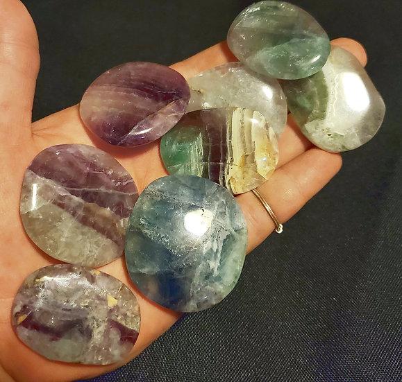 Fluorite Palm Stone | Rainbow Fluorite | Grade A Quality Fluorite