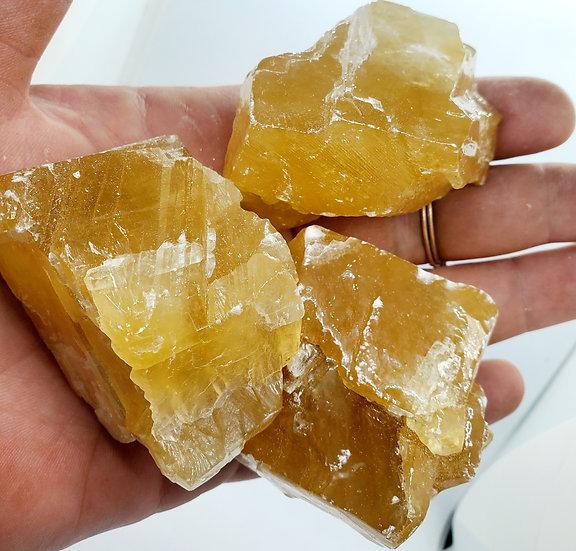 Golden Calcite Rough   Raw Honey Calcite