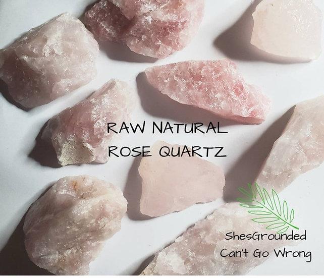 Natural Raw Rose Quartz Chunk