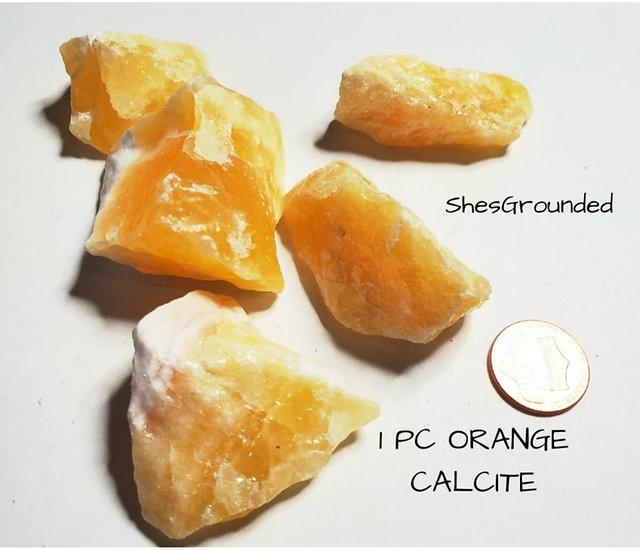 YELLOW/ORANGE CALCITE 1 PC