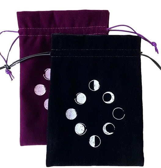 XL Moonphase Velvet Pouch