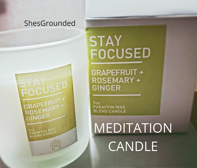 MEDITATION CANDLE   stay focused