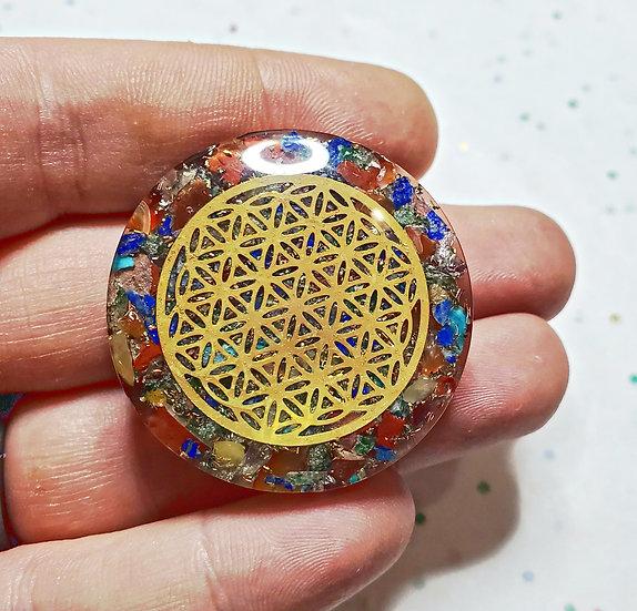 Chakra Orgonite Palm Disc