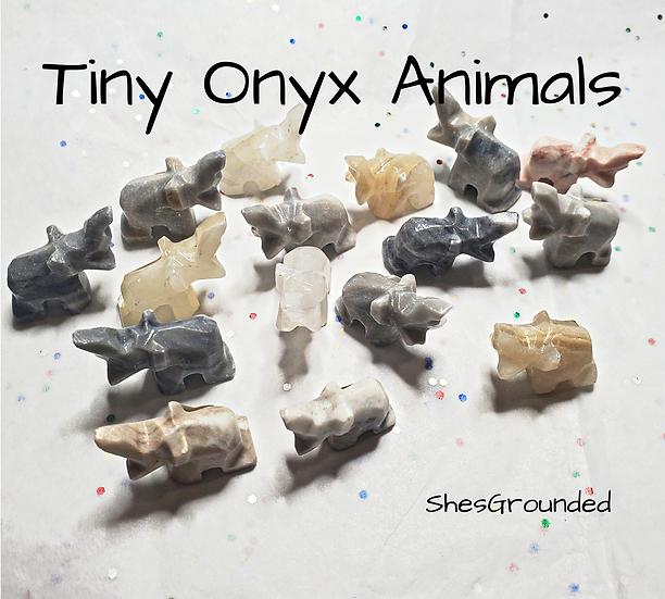 1 pc Tiny Onyx Elephant