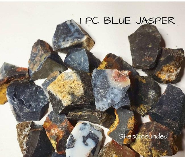 1 pc raw blue jasper