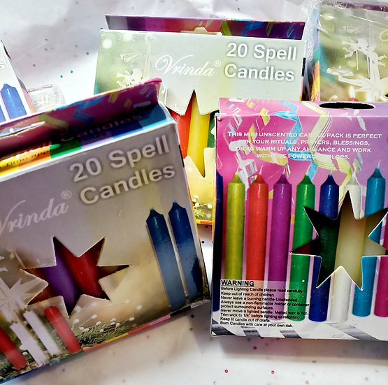 20 pc Assorted Spell Candles