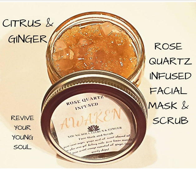 Rose Quartz Infused Face Scrub