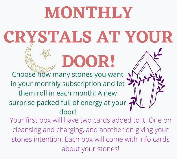 Crystal Subscription Box | Monthly Crystals