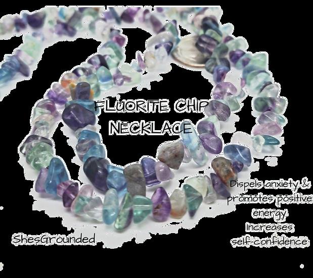 Fluorite Chip Necklace 36inch