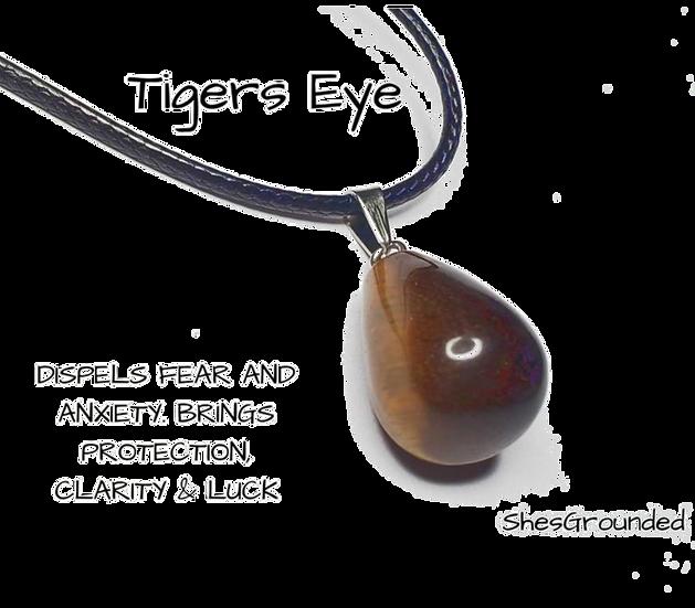 Tigers Eye Tear Necklace