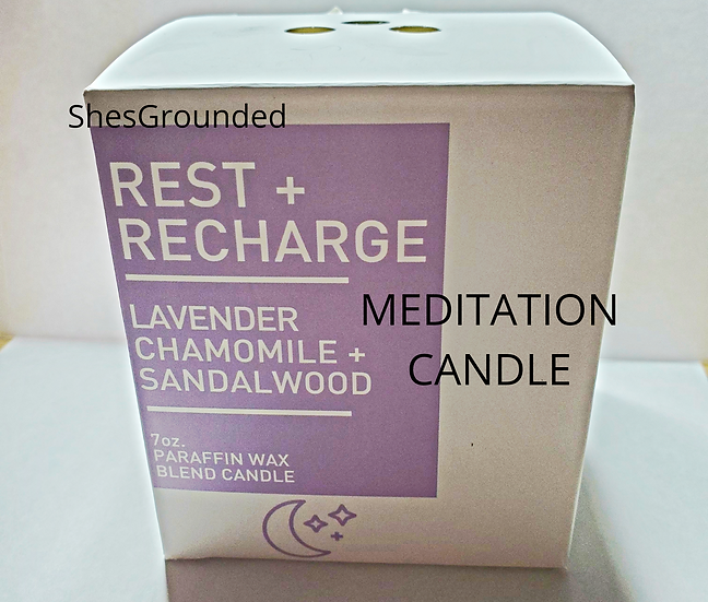 copy of MEDITATION CANDLE   rest and recharge