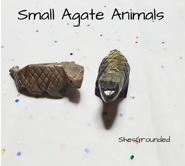 2 pc agate lizards