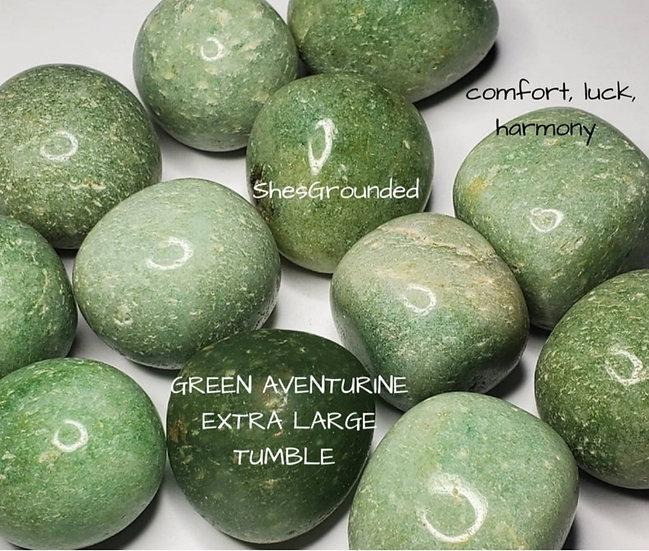 Large green aventurine tumble