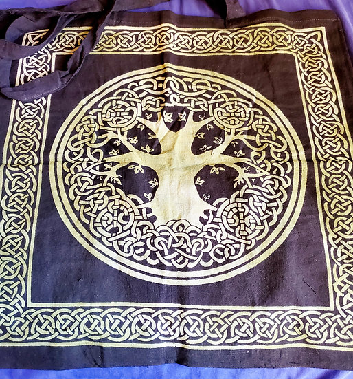 Thin Clothe Tote Bag XL Tree of Life Bag