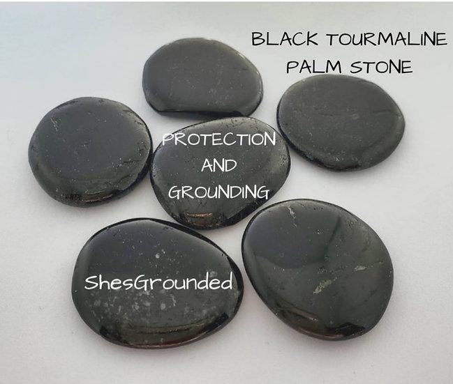 Tiny Black Tourmaline Palm