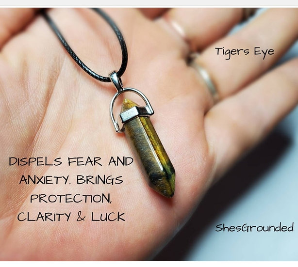 Tigers Eye Point Necklace