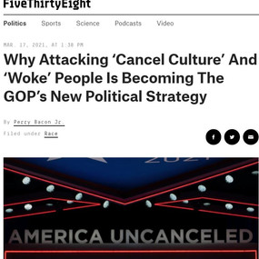 Why Attacking 'Cancel Culture' And 'Woke' People Is Becoming The GOP's New Political Strategy