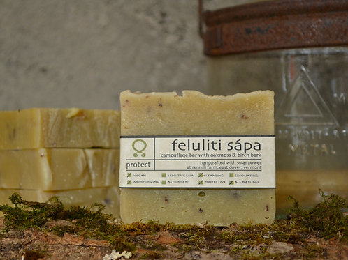 Feluliti Sápa - Oakmoss + Birch Bark Camouflage Bar