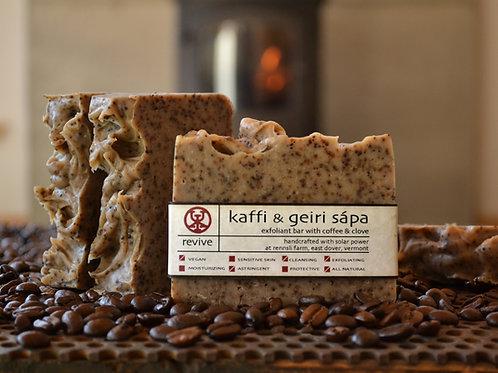 Kaffi & Geiri Sápa - Coffee & Clove Exfoliant Bar
