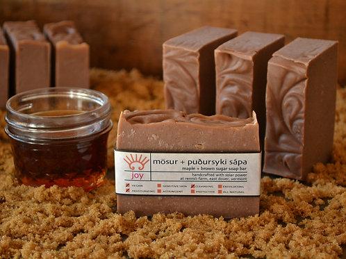 Mösur + Puðursyki Sápa - Maple & Brown Sugar Soap Bar