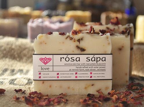 Rósa Sápa - Rose Petal & Glycerin Sensitive Skin Bar