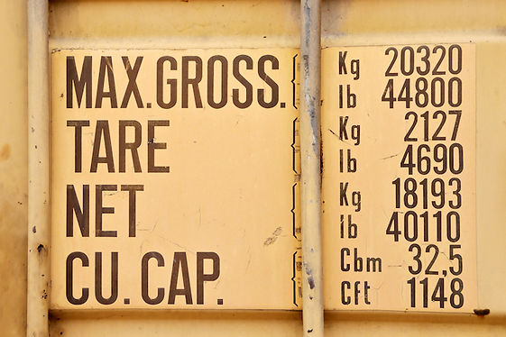 Container information weight